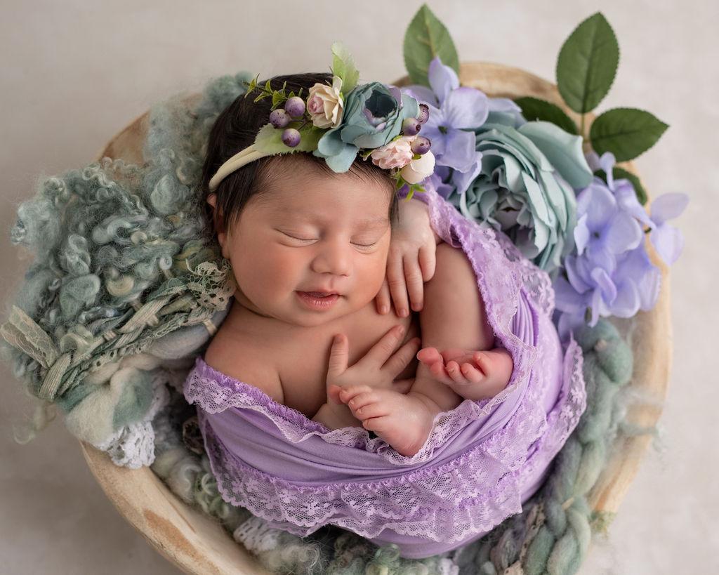 Newborn photo of a baby in Chicago